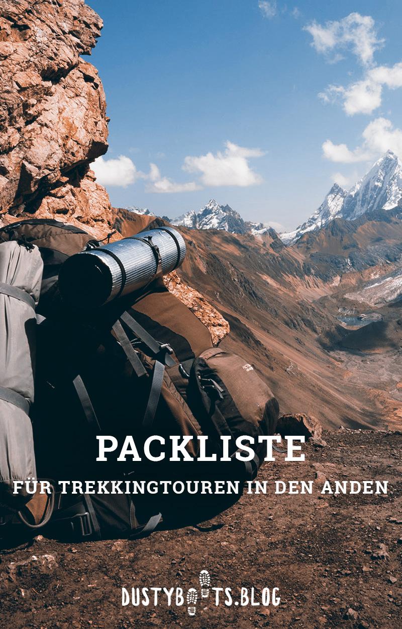 Packliste für Trekking in den Anden