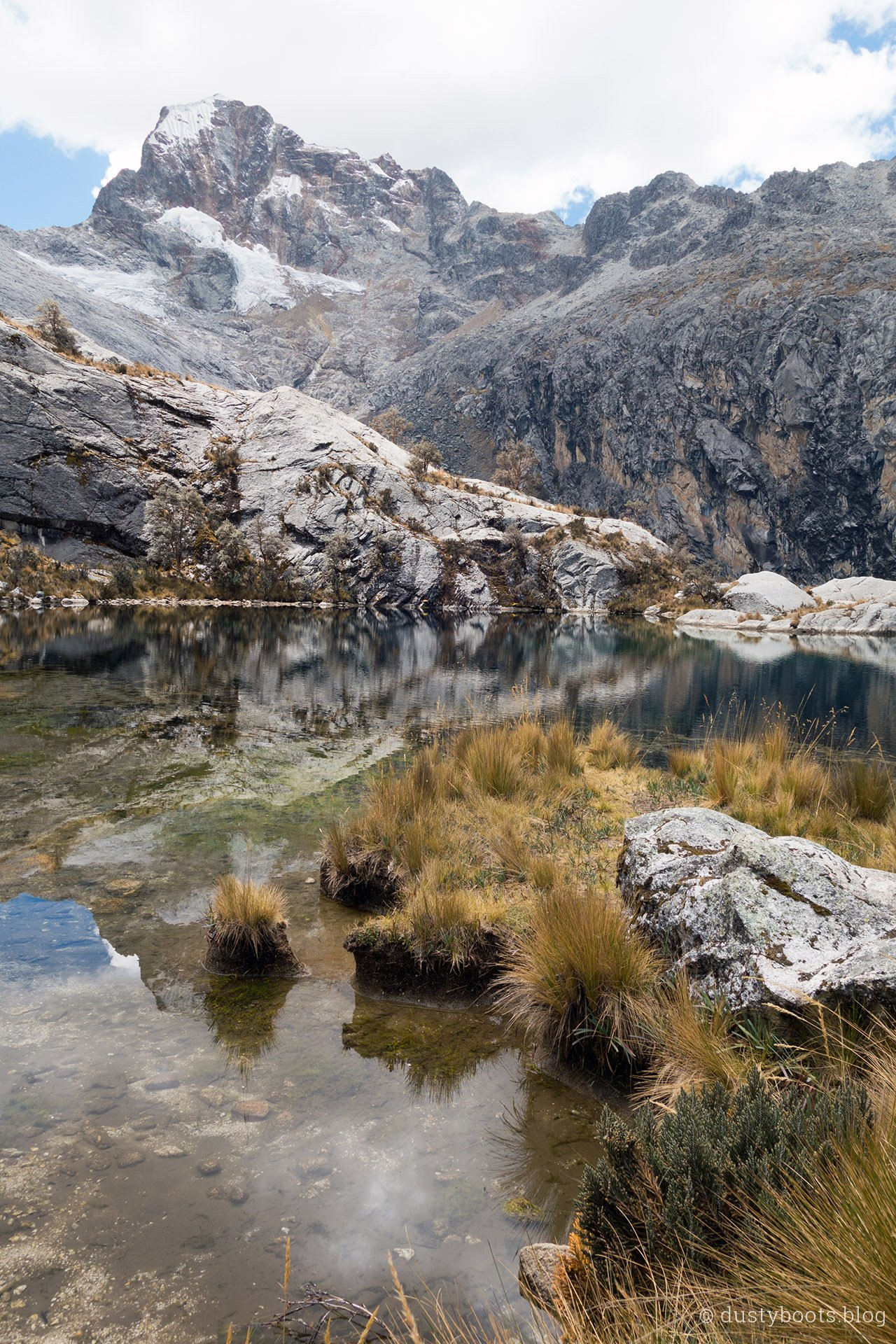 Laguna Churup Blick auf den Nevado Churup