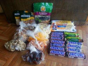 Unsere Snacks für eine 5-tägige Wanderung im Süden Chiles