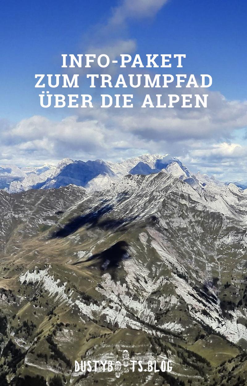 Infopaket zum Traumpfad über die Alpen