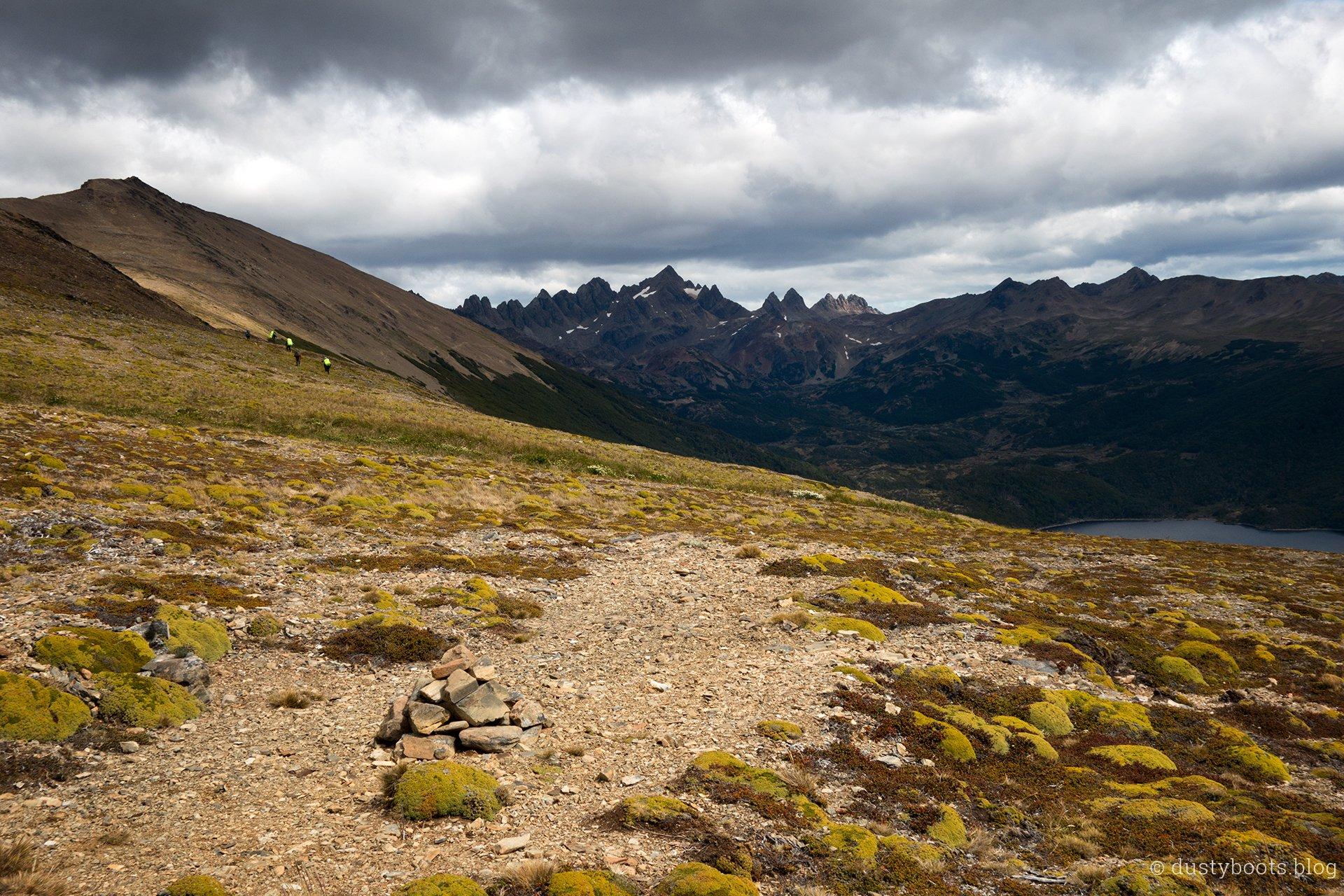 Blick auf die Dientes de Navarino vom Cerro Bandera