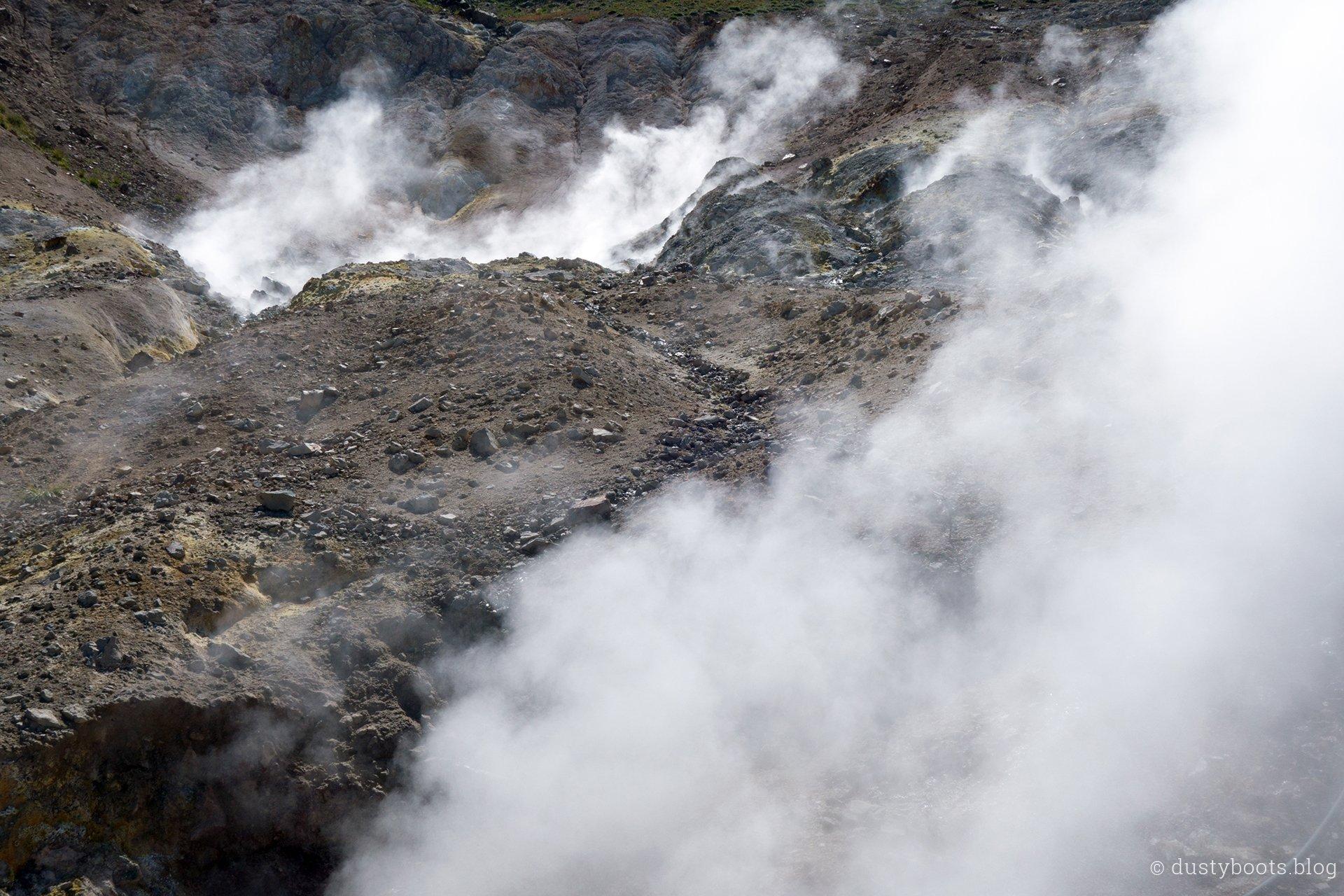 Fumaroles im Valle Hermoso in Chile