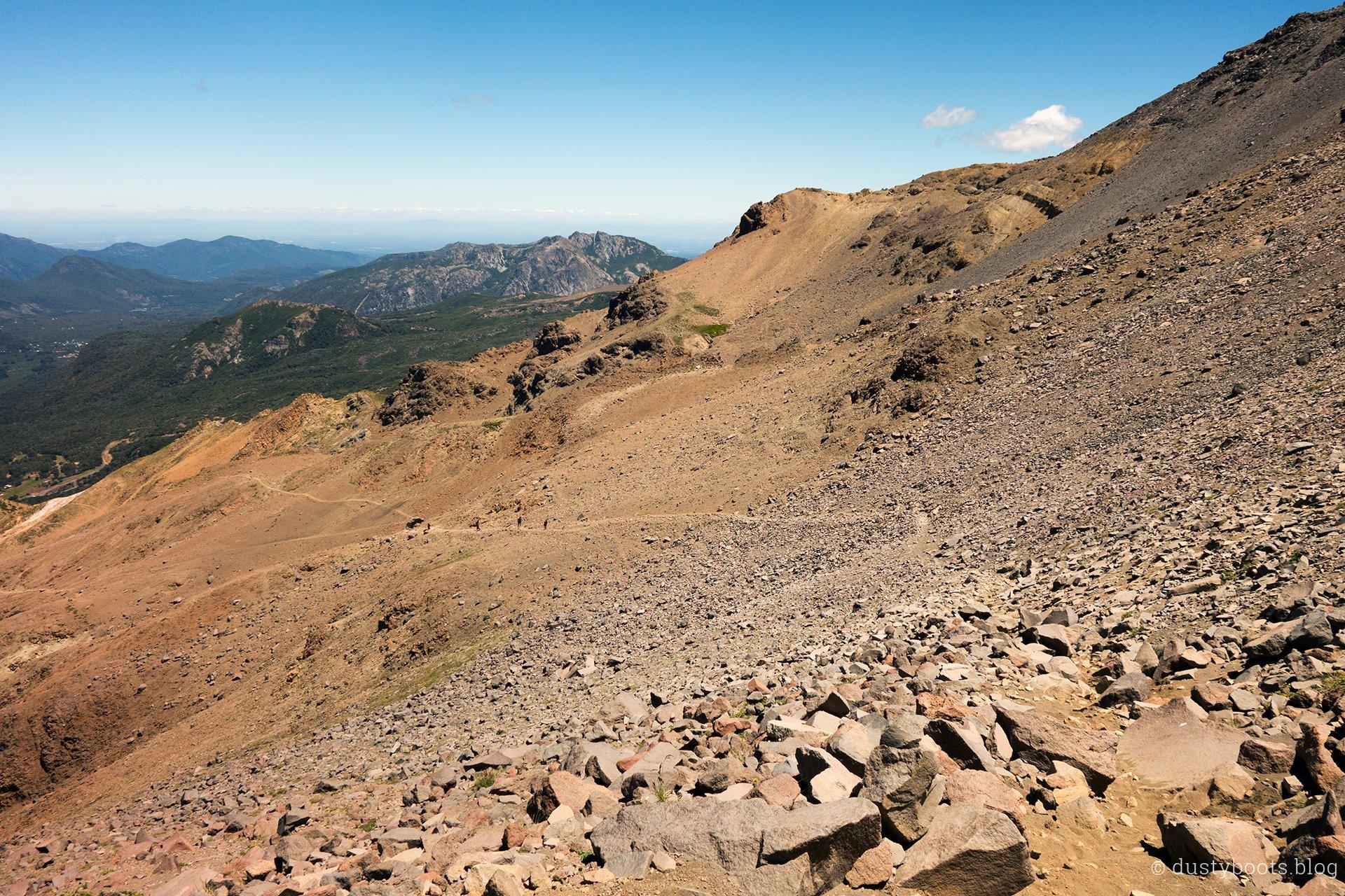 steiniger Aufstieg zum Paso Pirigallo