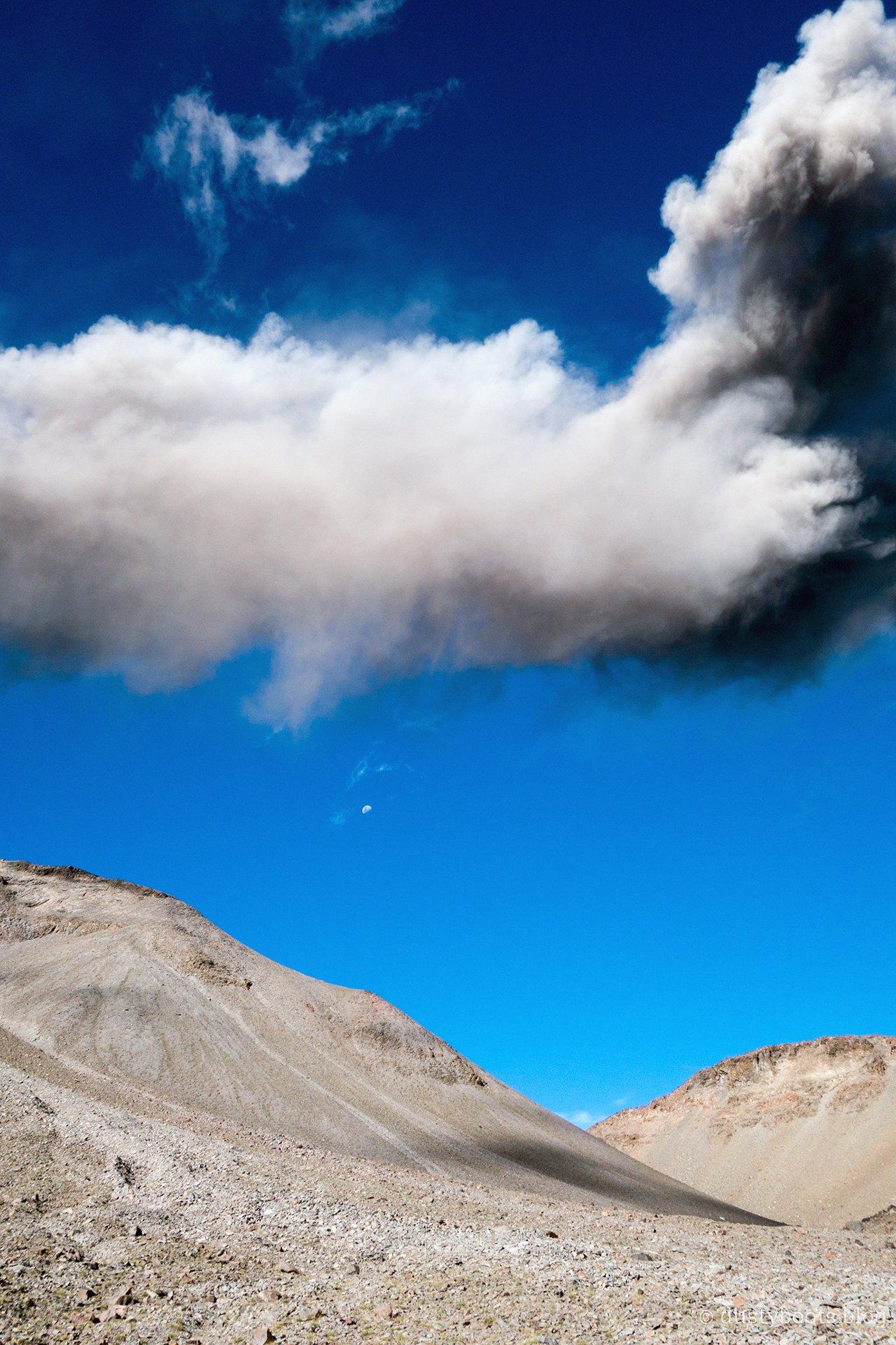 Ausbruch des Vulkans Chillan in Zentralchile