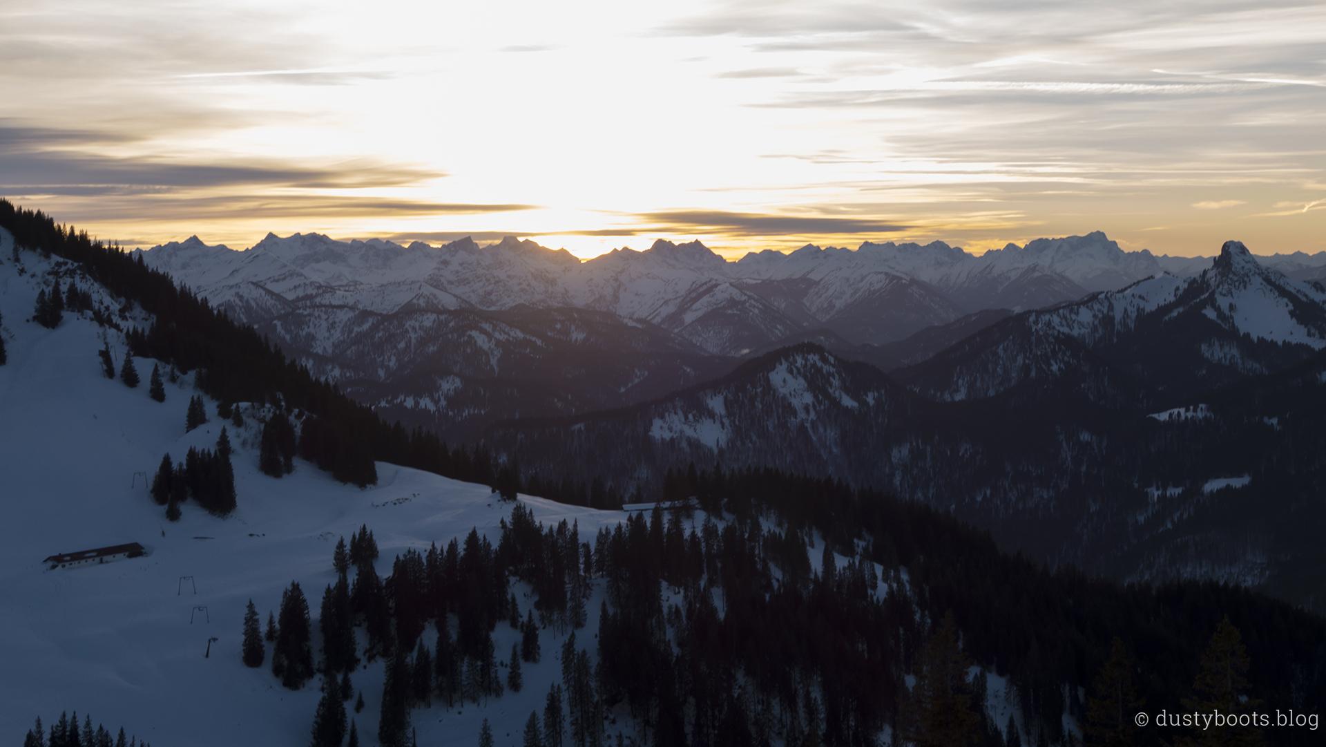 Sonnenuntergang am Wallberg