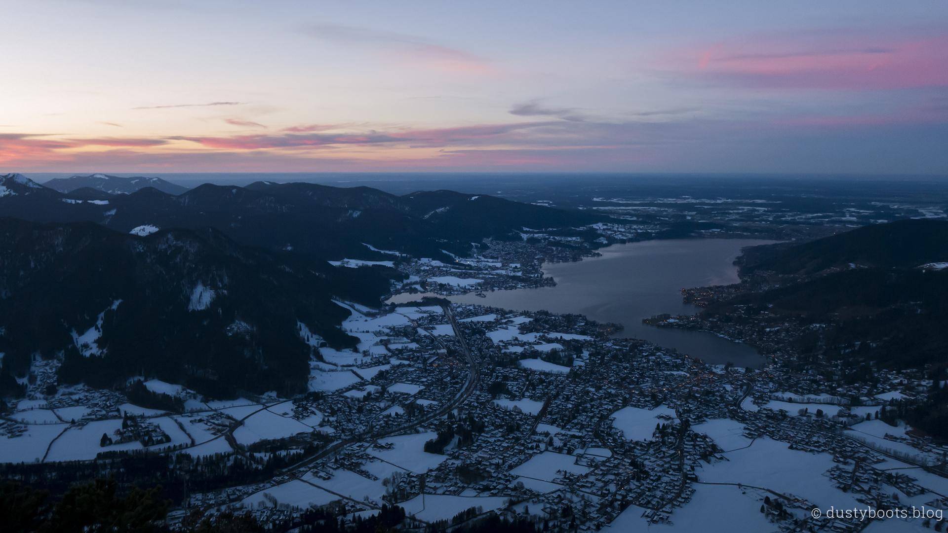 Sonnenuntergang über dem Tegernsee